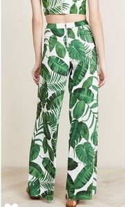 Nwt alice and Olivia Athens tropical leaves pants